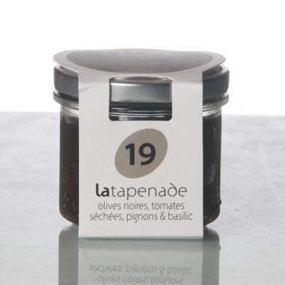 OLIVE NOIRE TOMATES SECHEES - PIGNON - BASILIC