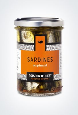 Sardines debout Piment