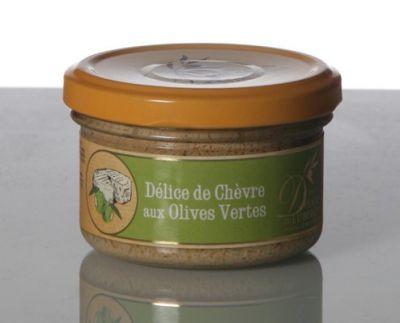 Chèvre olives vertes