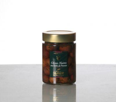 Olives noires herbes
